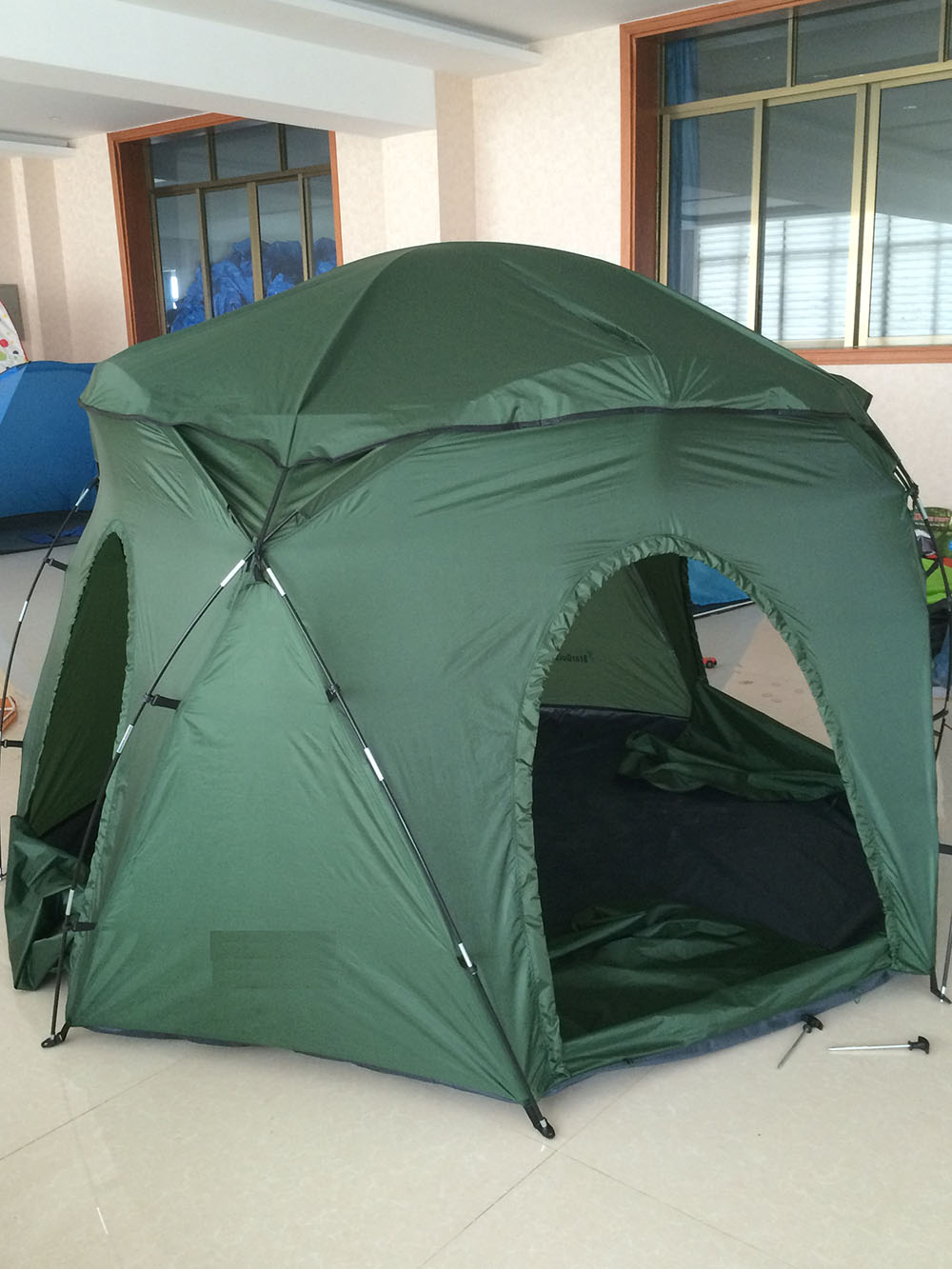 NEW STRONGER MORE DURABLE MATERIAL. FLY COVER INCLUDED. LARGE 10 FEET DIAMETER OF OBSERVING SPACE. & CLEAR-VIEW PORTABLE OBSERVATORY TENT WITH FLY COVER
